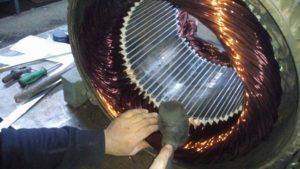 Tokat redüktörlü dc motor Sarımı